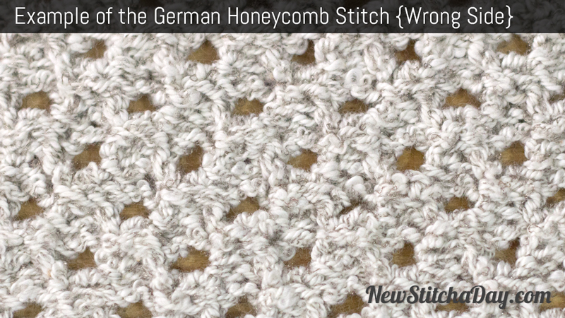 Example of the German Honeycomb Stitch. (Wrong Side)