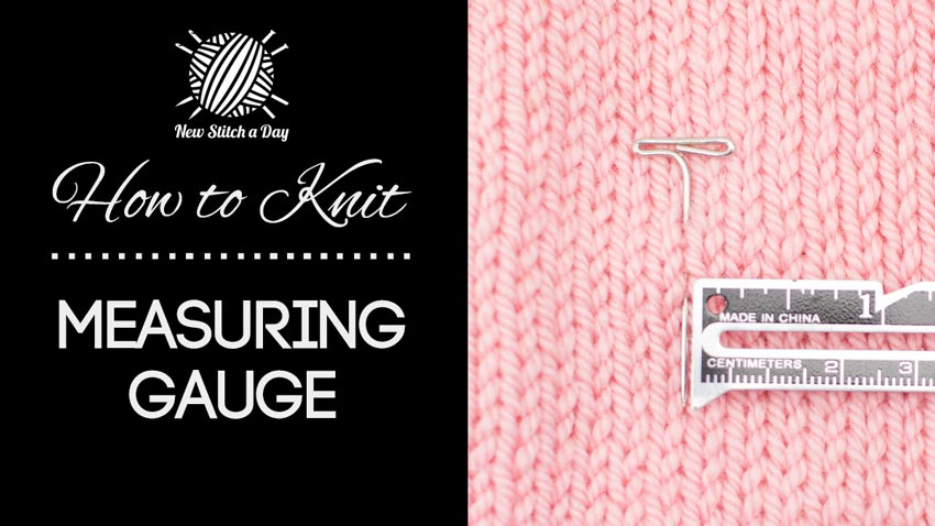 How to Knit Measuring your Gauge