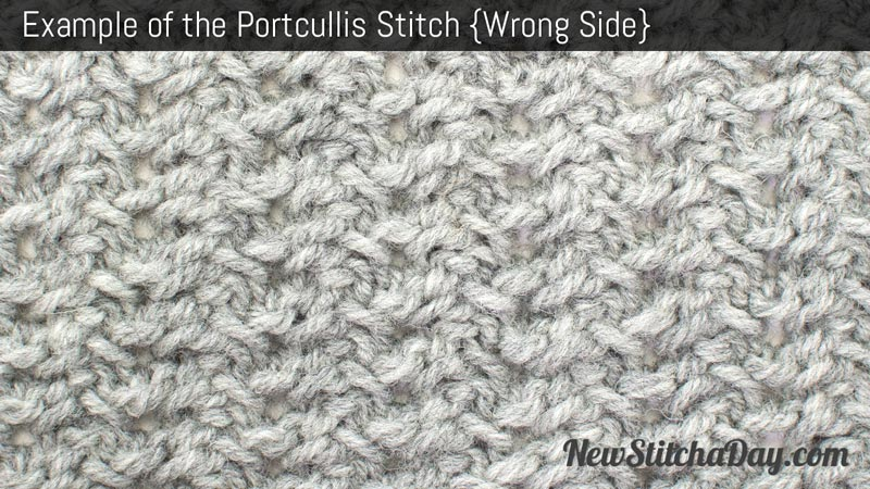 Example of the Portcullis Stitch. (Wrong Side)