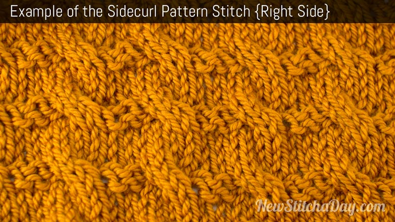 Example of the Sidecurl Pattern Stitch. (Right Side)