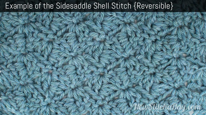 The Sidesaddle Shell Stitch :: Crochet Stitch #143 :: New Stitch A Day