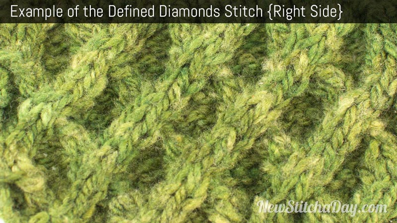 How to Knit the Defined Diamonds Stitch NEW STITCH A DAY