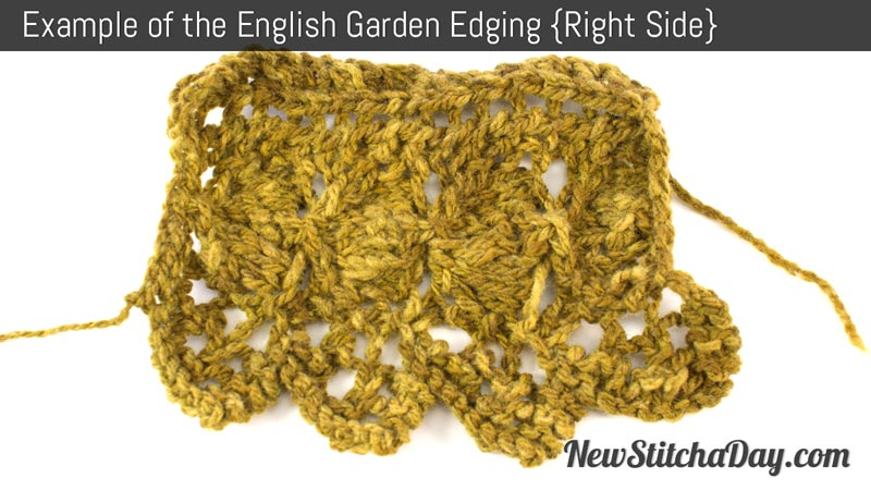 Example of the English Garden Edging Stitch. (Right Side)