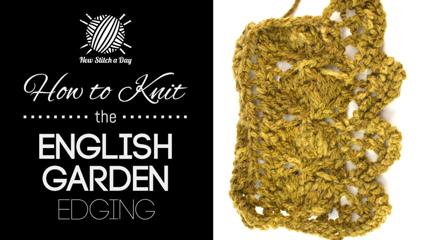 How to Knit the English Garden Edging Stitch