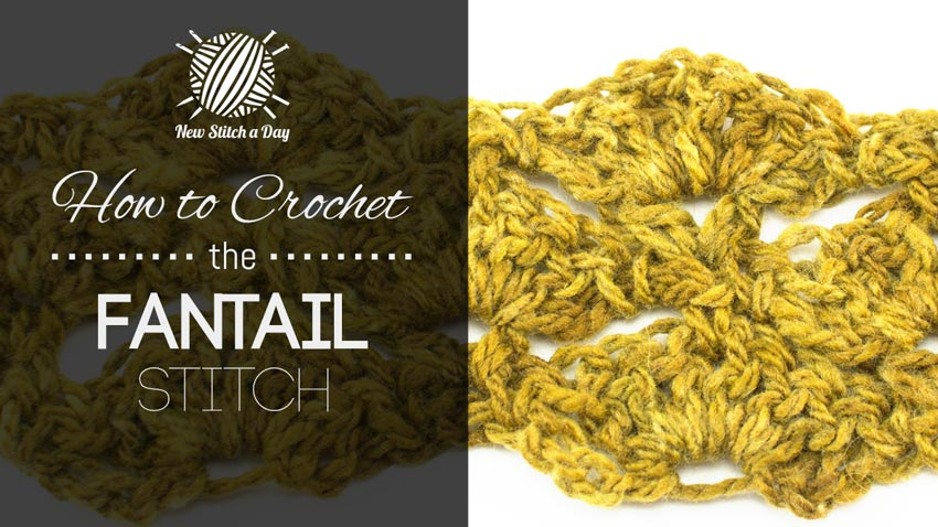 How to Crochet the Fantail Stitch