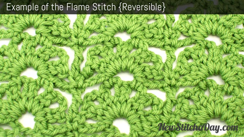 Example of the Flame Stitch. (Reversible)