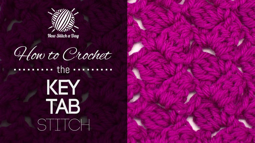 How to Crochet the Key Tab Stitch