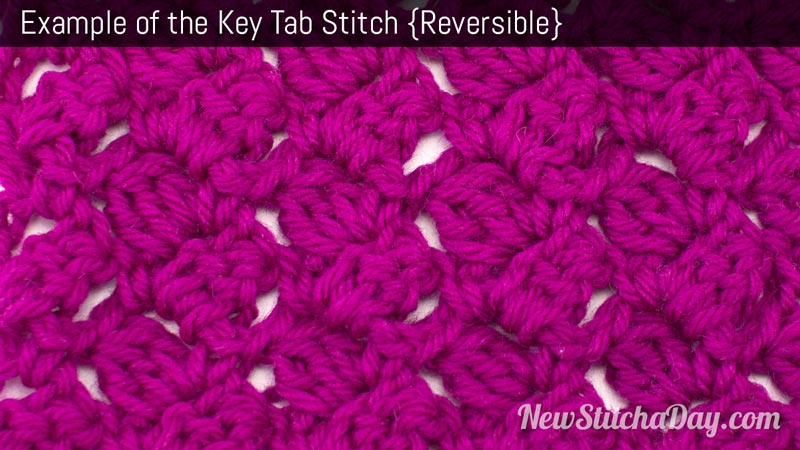 The Key Tab Stitch :: Crochet Stitch #167 :: New Stitch A Day