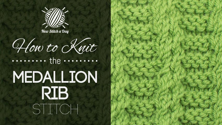 How to Knit the Medallion Rib Stitch