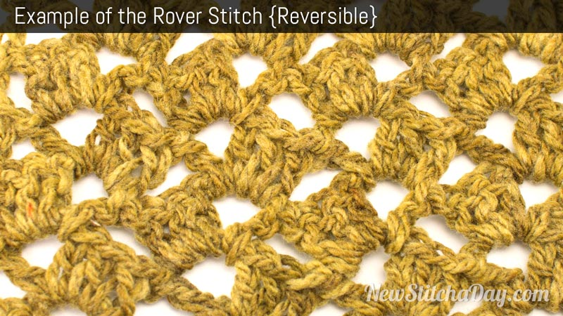 Example of the Rover Stitch. (Reversible)