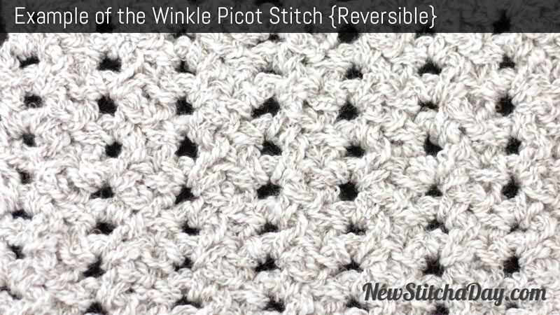Crochet Stitches Examples : The Winkle Picot Stitch :: Crochet Stitch #162 :: New Stitch A Day