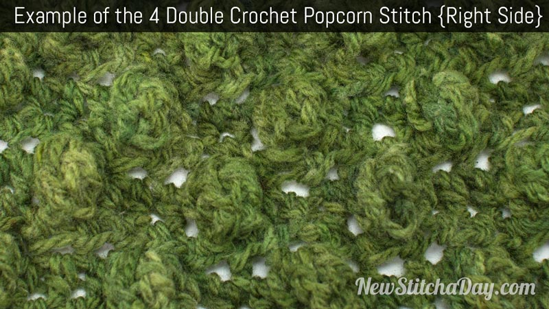Crochet Stitches Rs : ... Crochet Popcorn Stitch :: Crochet Stitch #194 NEW STITCH A DAY