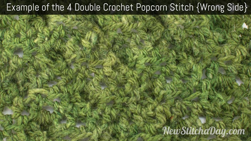Crochet Stitches Wrong Side : ... Crochet Popcorn Stitch :: Crochet Stitch #194 NEW STITCH A DAY