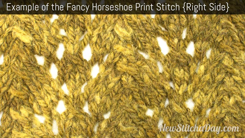 Example of the Fancy Horseshoe Print  Stitch. (Right Side)