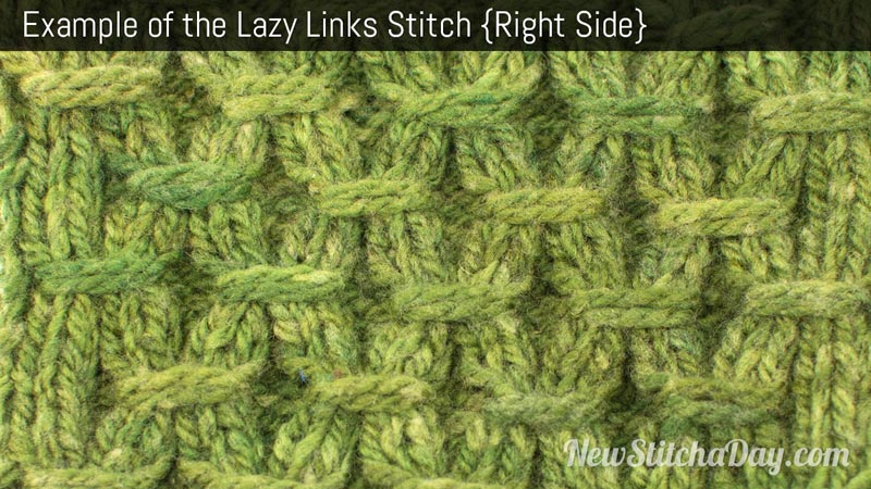 Knitting Stitches Examples : How to Knit the Lazy Links Stitch NEW STITCH A DAY