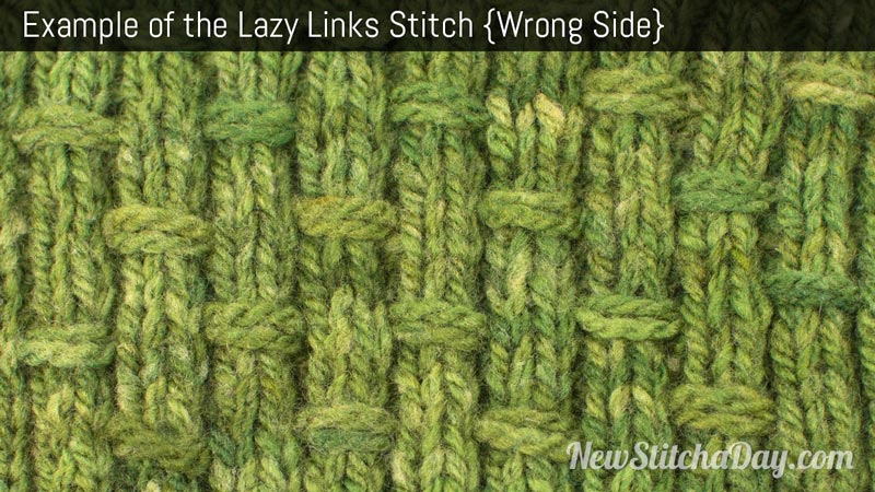 Example of the Lazy Links Stitch. (Wrong Side)