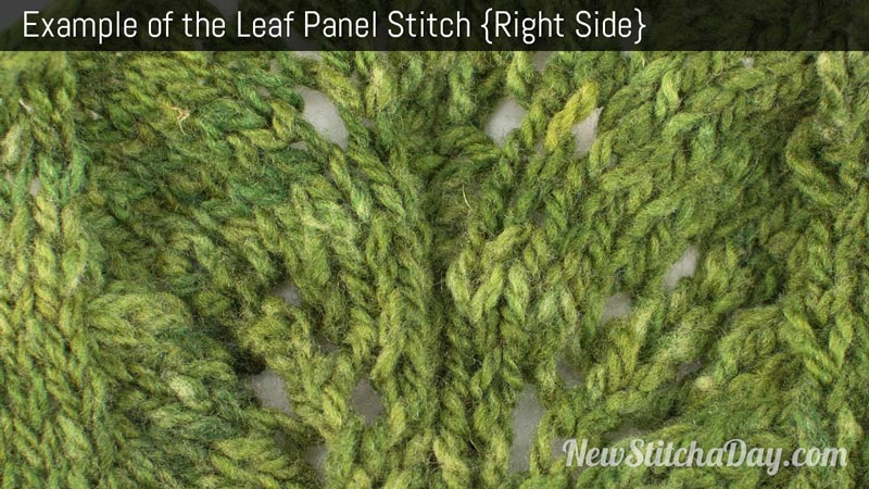 Example of the Leaf Panel Stitch. (Right Side)