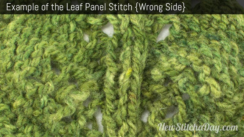 Example of the Leaf Panel Stitch. (Wrong Side)