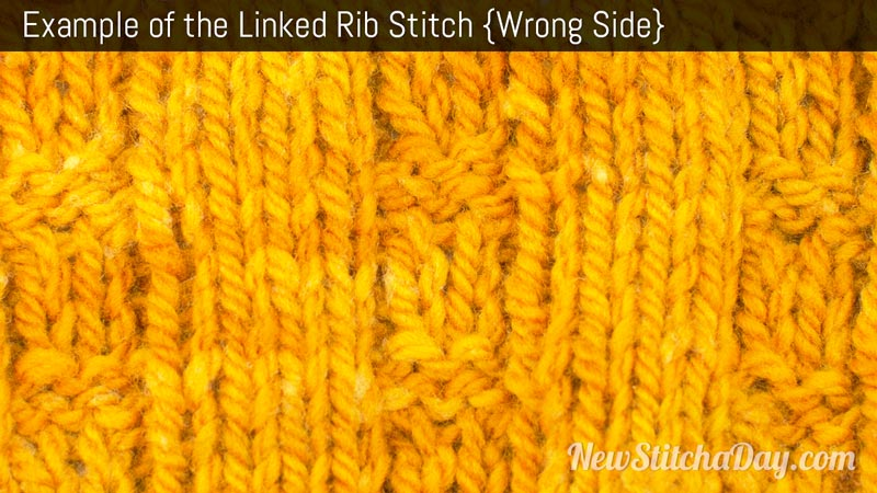 Example of the Linked Rib Stitch. (Wrong Side)