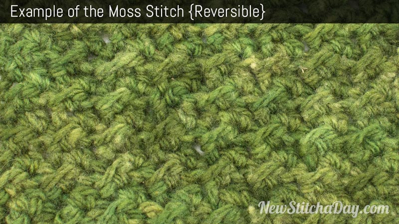 Crochet Stitches Moss Stitch : The Moss Stitch :: Crochet Stitch #176 :: New Stitch A Day