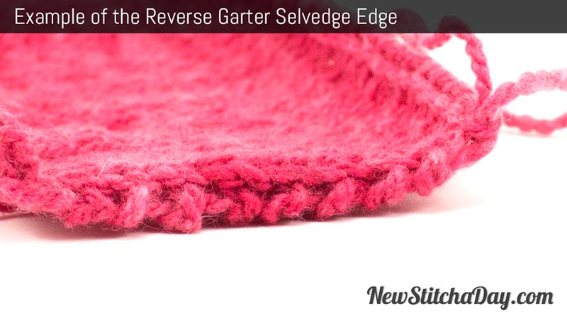 Example of the Reverse Garter Selvedge Edge.