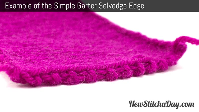 Example of the Simple Garter Selvedge Edge.