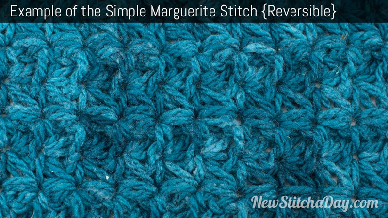 Crochet Stitch Of The Day : The Simple Marguerite Stitch :: Crochet Stitch #200 NEW STITCH A DAY
