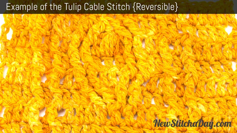 Example of the Tulip Cable Stitch. (Reversible)