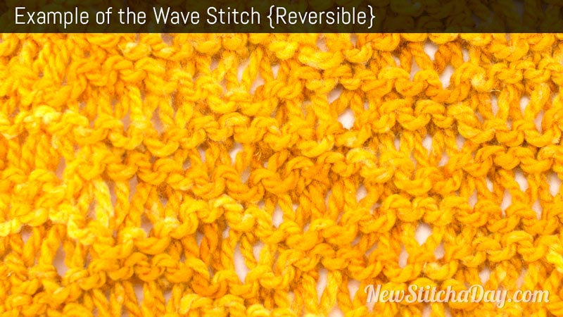 Example of the Wave Stitch. (Reversible)