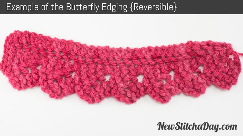 Example of the Butterfly Edging. (Reversible)