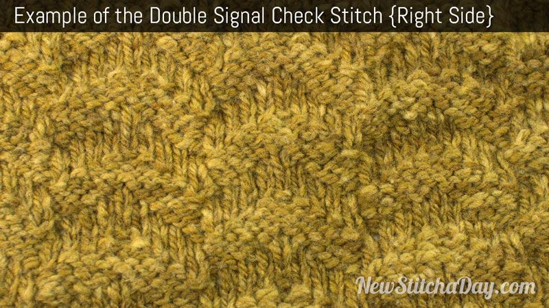 Example of the Double Signal Check Stitch. (Right Side)