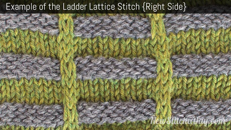 Example of the Ladder Lattice Stitch. (Right Side)