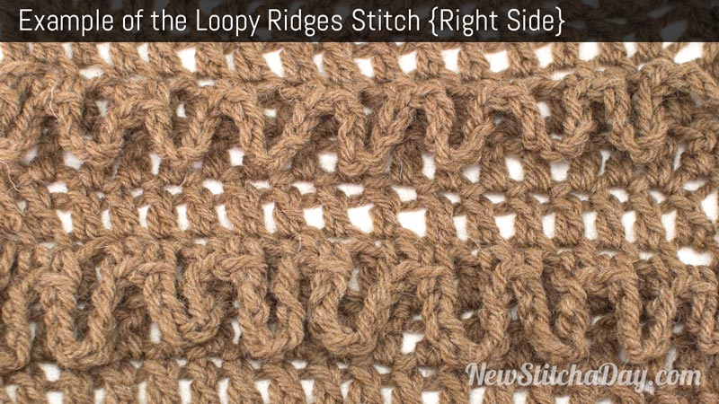 Crochet Stitch Of The Day : The Loopy Ridges Stitch :: Crochet Stitch #207 NEW STITCH A DAY