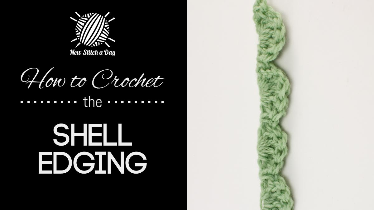 How to Crochet the Shell Edging