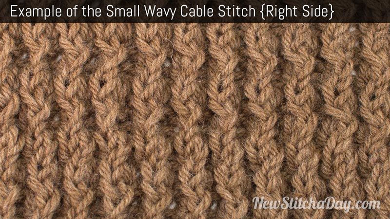 Example of the Small Wavy Cable Stitch. (Right Side)