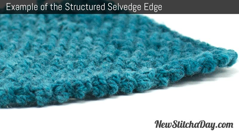 Example of the Structured Selvedge Edge.
