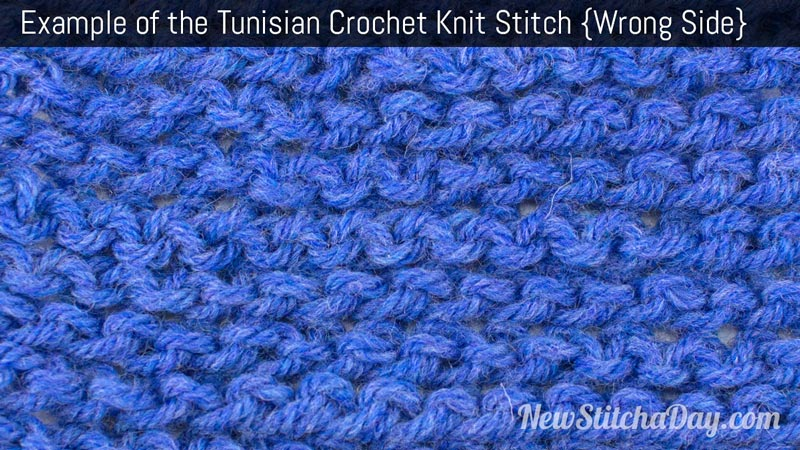 Example of the Tunisian Crochet Knit Stitch. (Wrong Side)