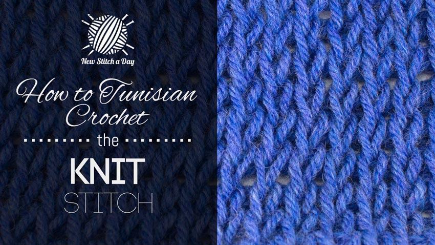 How To Cast On Stitches For Knitting With A Crochet Hook : How to Tunisian Crochet the Knit Stitch :: Tunisian Crochet Stitch #3 NEW S...