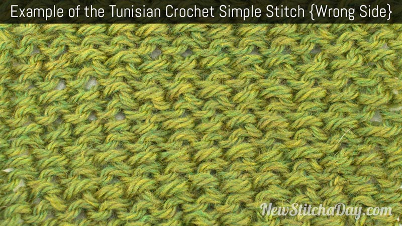 Example of the Tunisian Crochet Simple Stitch. (Wrong Side)