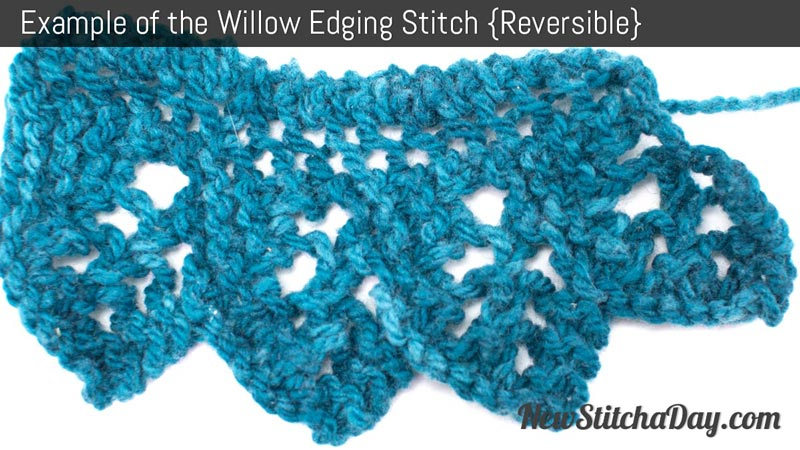 Example of the Willow Edging Stitch. (Reversible)