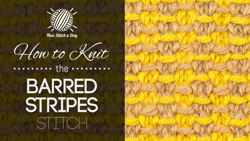 How to Knit the Barred Stripes Stitch