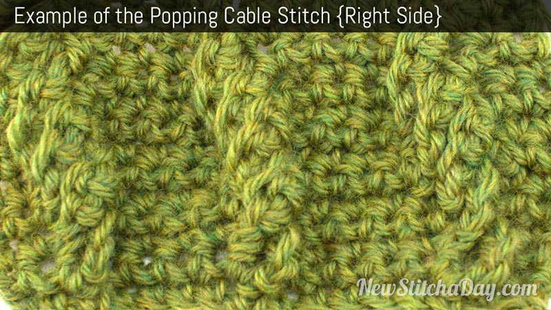 Crochet Stitches Right Side : The Popping Cable Stitch :: Crochet Stitch #215 NEW STITCH A DAY