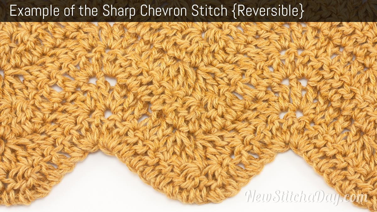Crochet Stitches Chevron : How to Crochet the Sharp Chevron Stitch NEW STITCH A DAY