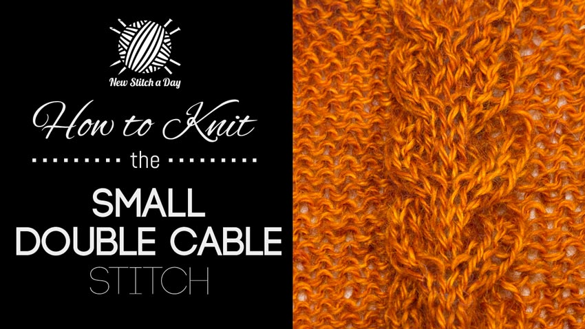 How to Knit the Small Double Cable Stitch