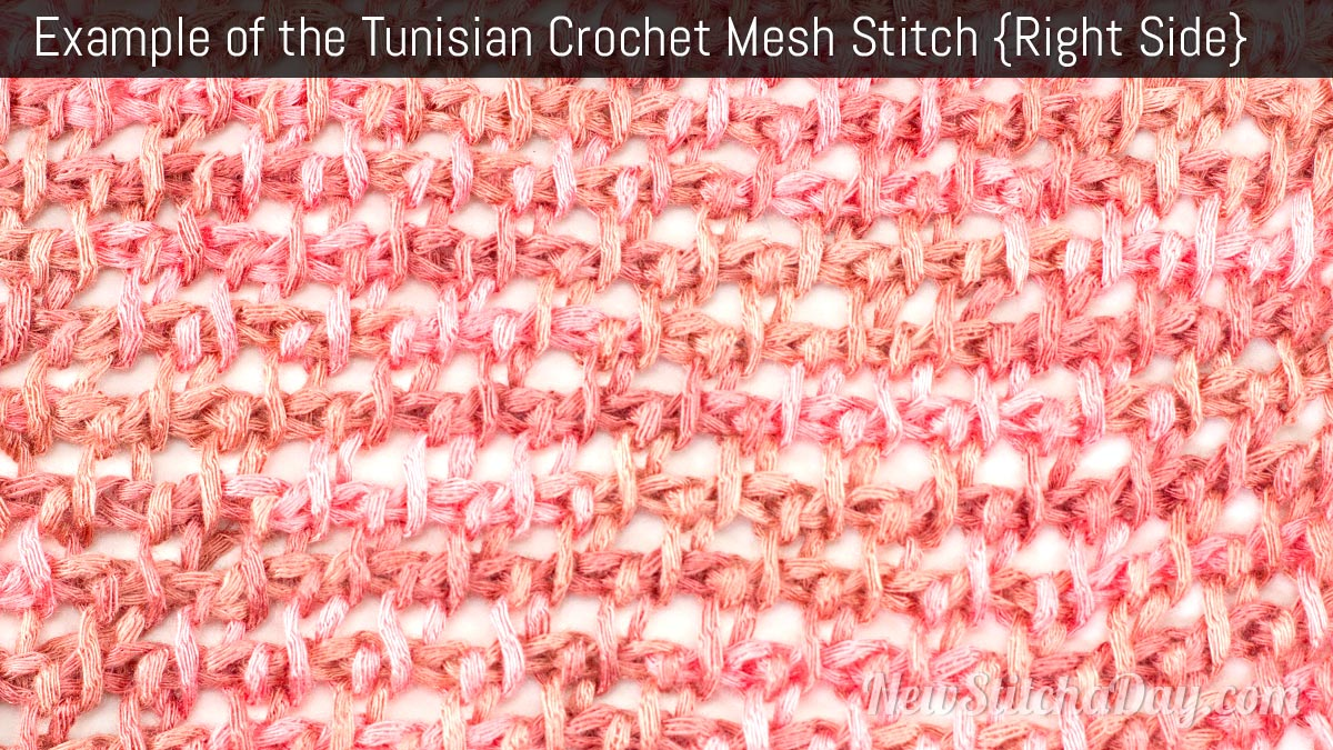 Crochet Stitches Right Side : ... Crochet the Mesh Stitch :: Tunisian Crochet Stitch #6 NEW STITCH A