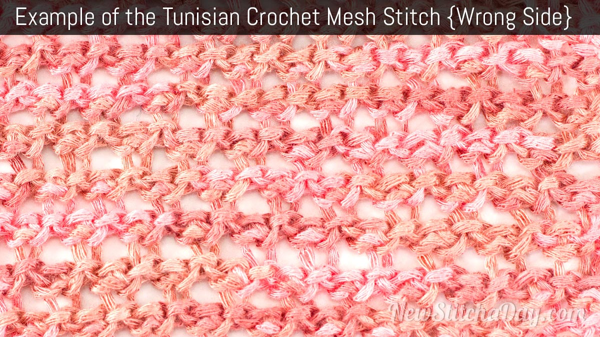 Example of the Tunisian Crochet Mesh Stitch. (Wrong Side)