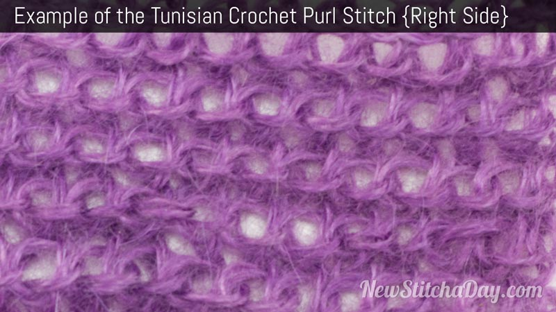 to Crochet the Tunisian Crochet Purl Stitch :: Tunisian Crochet Stitch ...