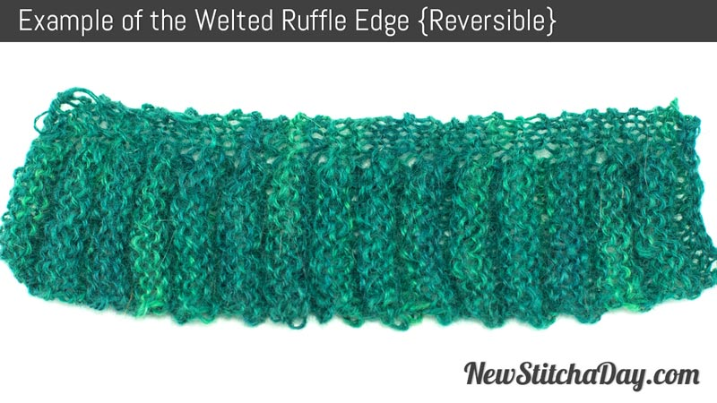 Example Of Knitting Pattern : The Welted Ruffled Edge :: Knitting Stitch :: New Stitch a Day