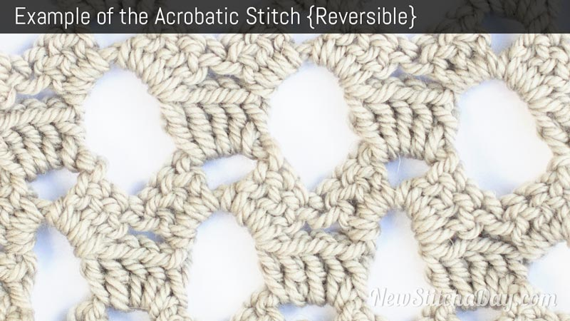 Example of the Acrobatic Stitch. (Reversible)