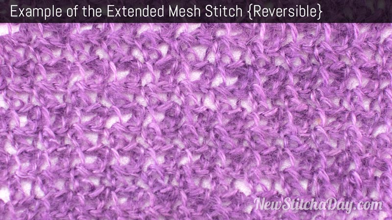 Crochet Stitches Mesh : How to Crochet the Extended Mesh Stitch NEW STITCH A DAY